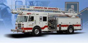 Larkspur Fire Department - Fire TruckGraphics