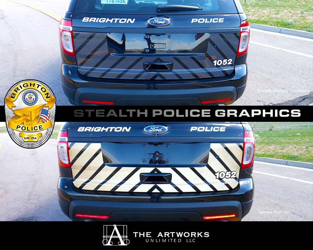 Steakth Police Car Graphics